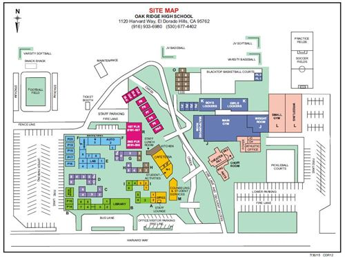 Independence High School Campus Map.Oak Ridge High School Orhs Campus Map